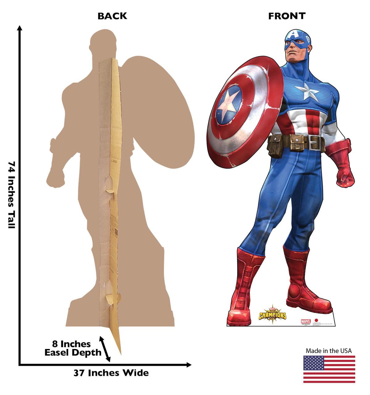 Captain America 1-Cardboard Cutout 2150