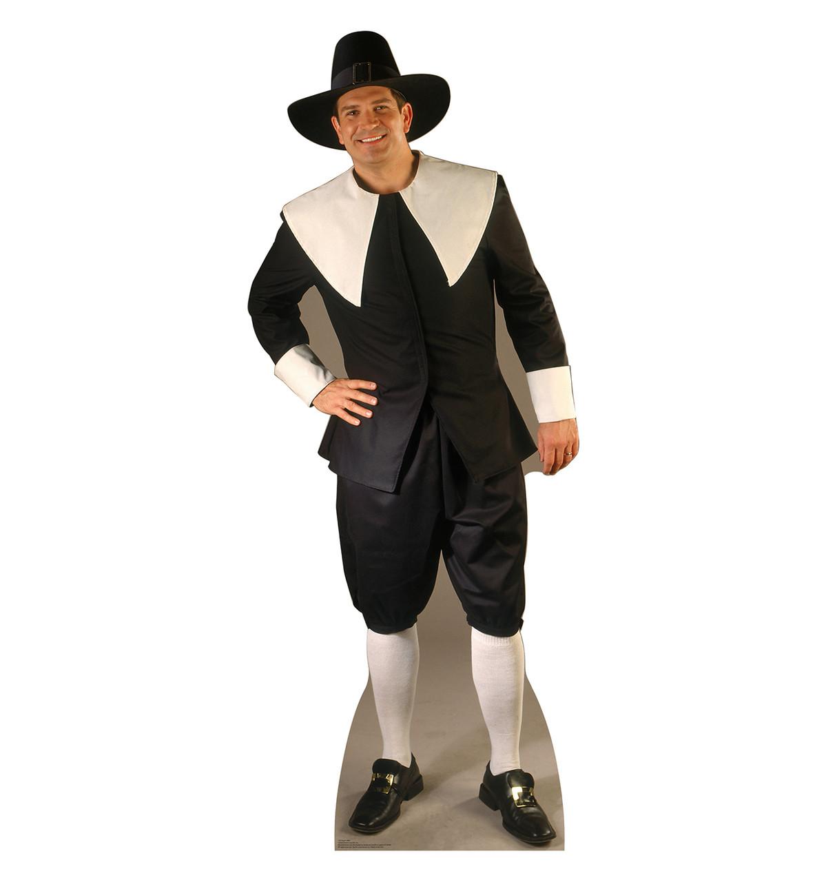 Life-size Pilgrim Man Cardboard Standup