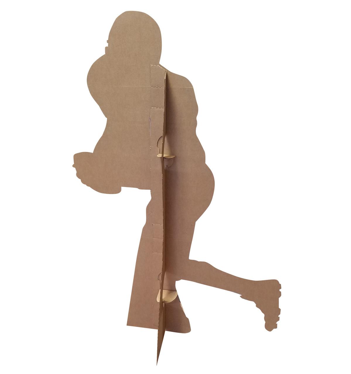 Football Player Running Silhouette-Cardboard Cutout 2394