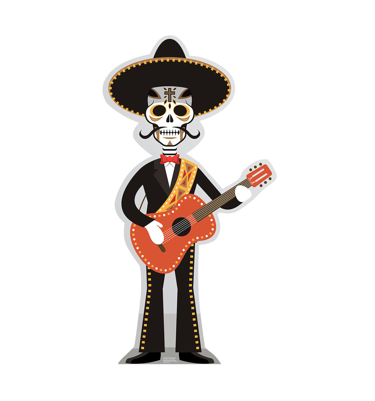 Day of the Dead Guitar Player Cardboard Cutout 2390