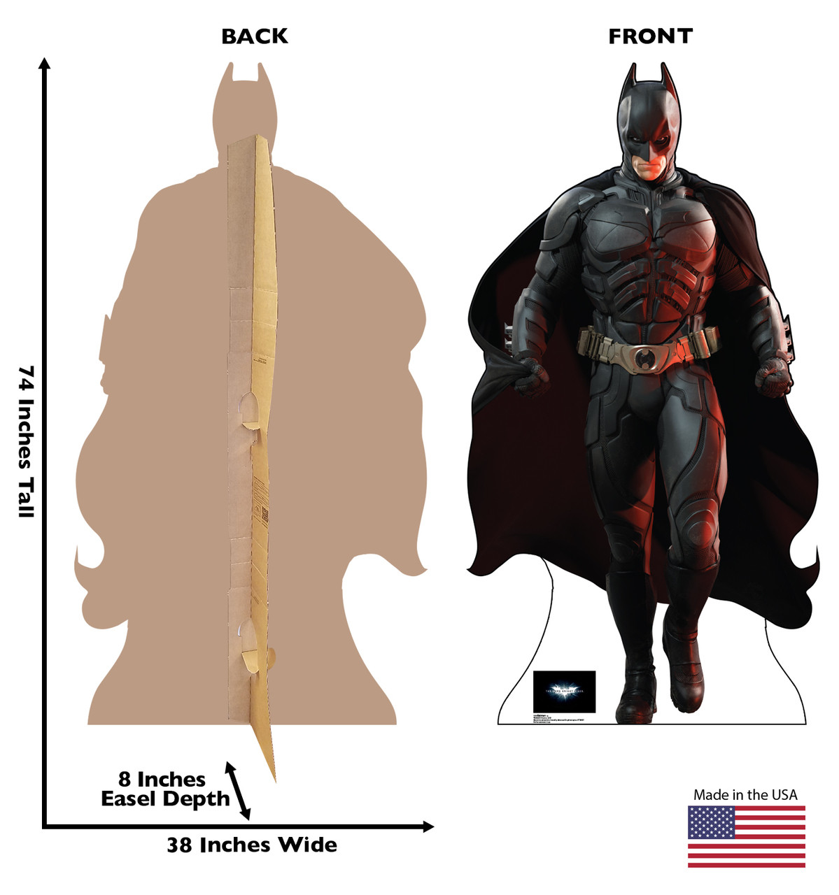 Batman - Dark Knight Rises Cardboard Cutout Front and Back View