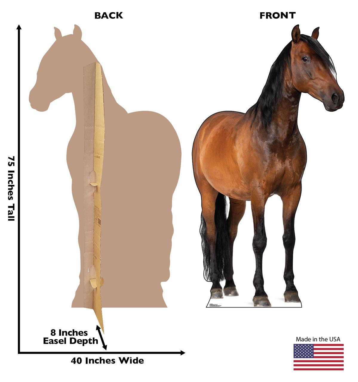 Life Size Horse 2 Cardboard Standup