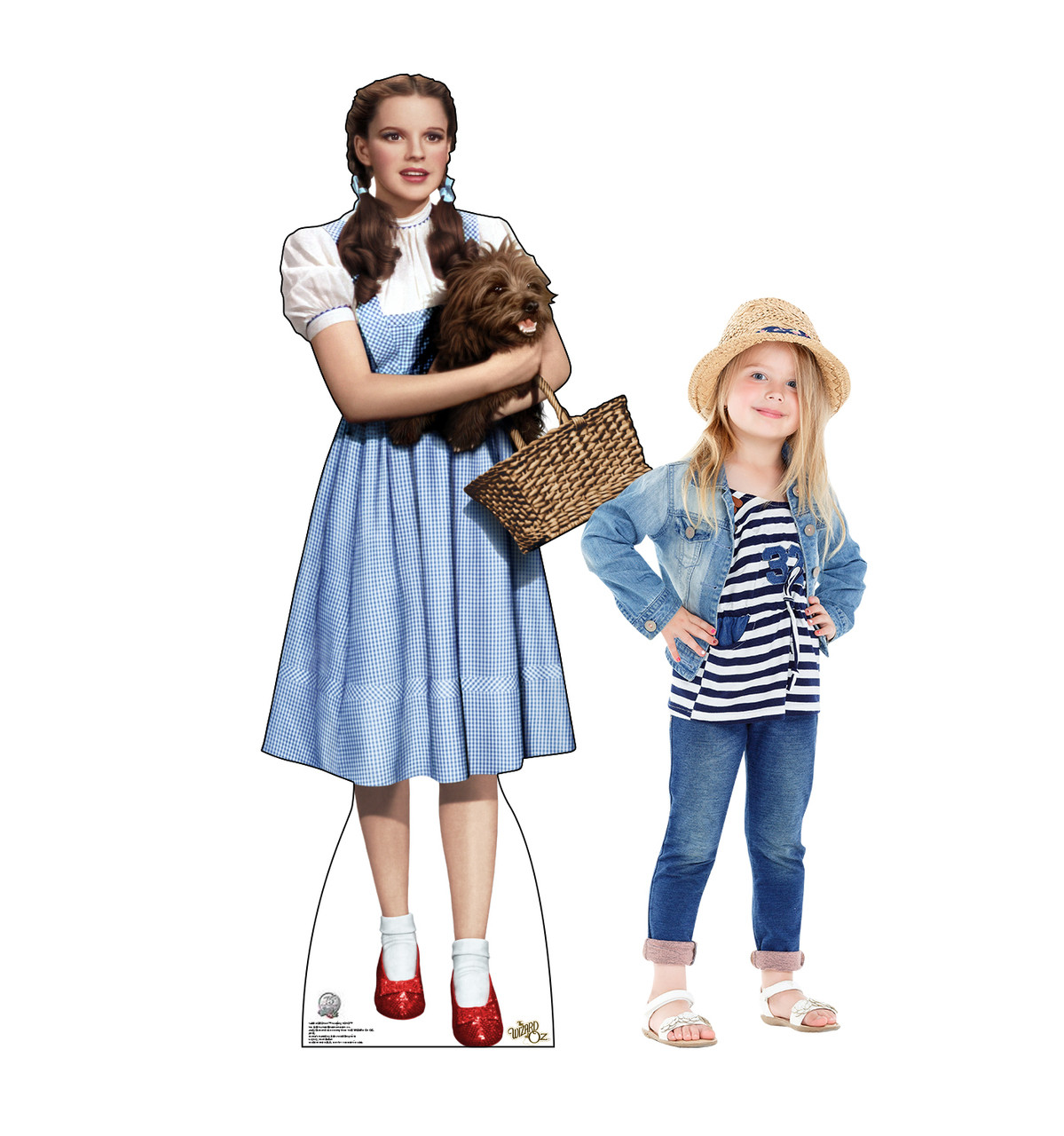 Dorothy from the Wizard of Oz Holding Toto - Life size cardboard cutout