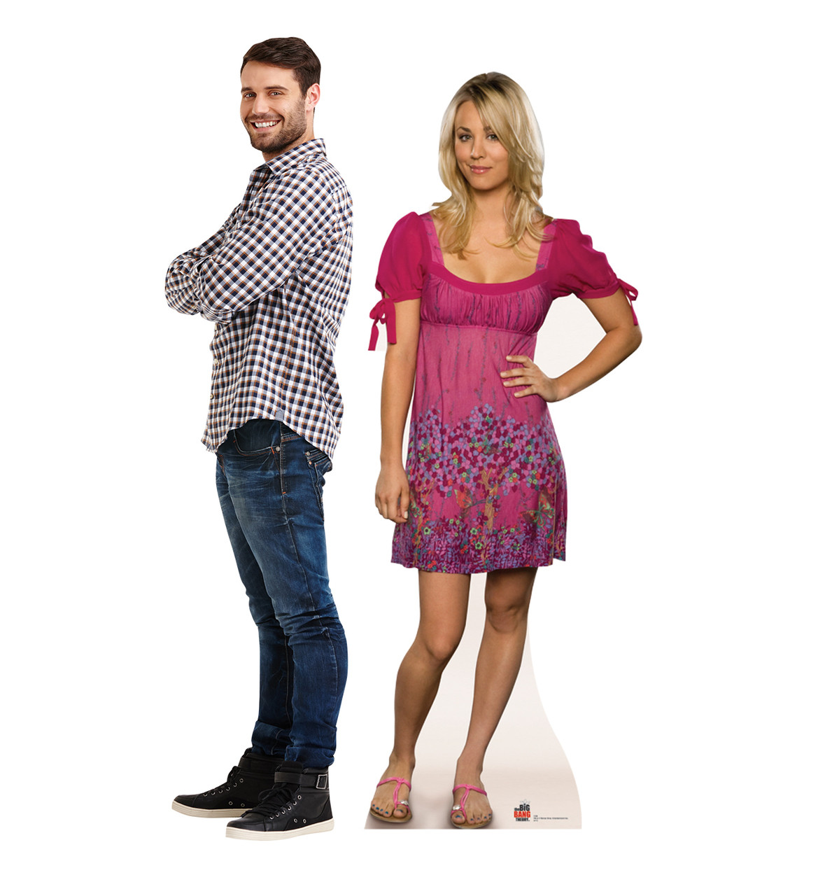 Life-size cardboard standee of Penny with model