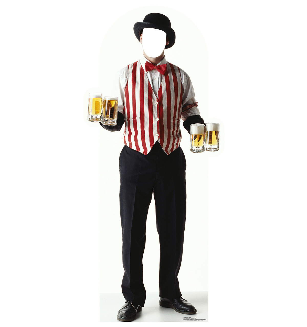 Life-size Carnival Bartender Standin Cardboard Standup | Cardboard Cutout