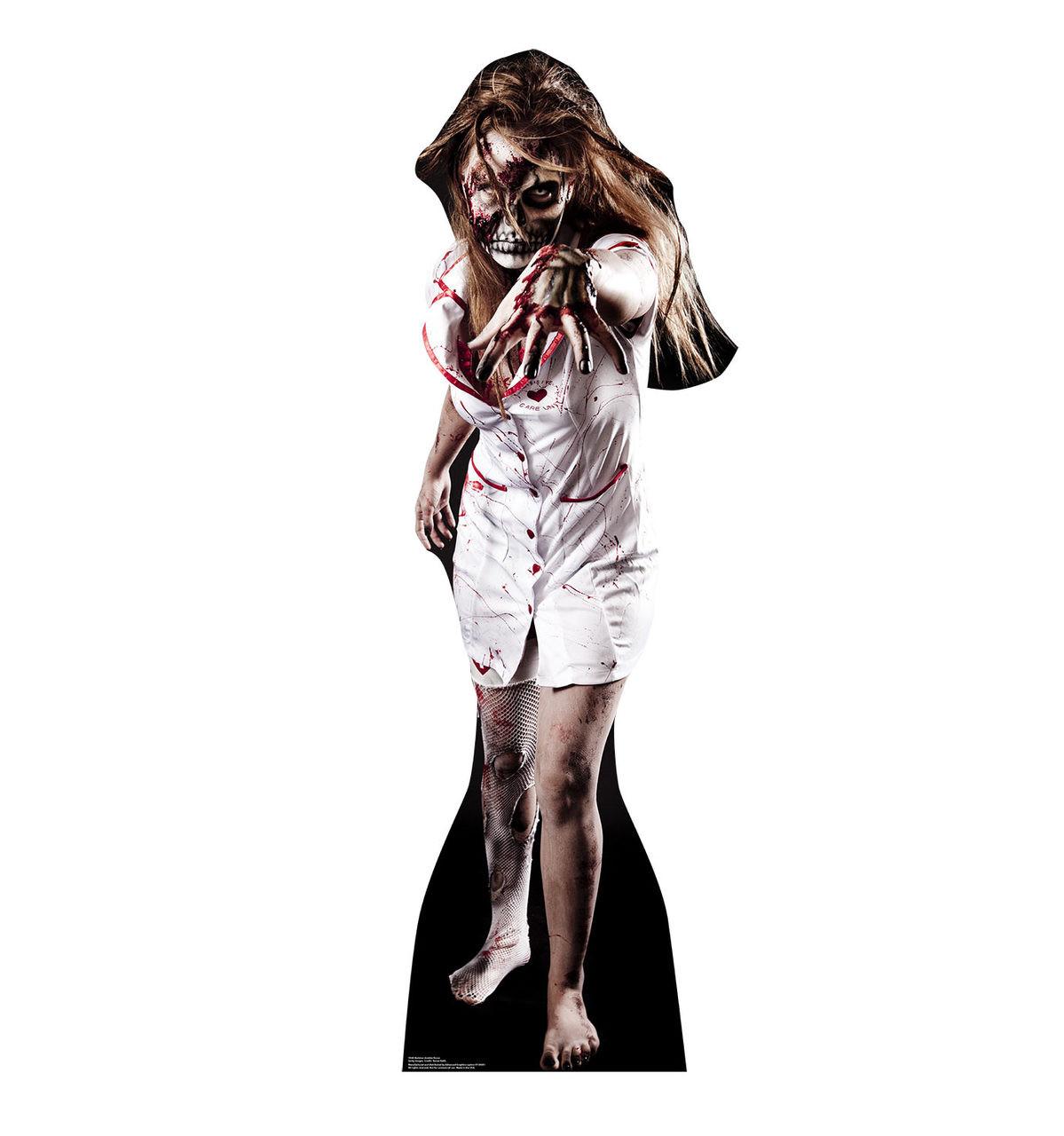 Life-size Skeleton Zombie Nurse Cardboard Standup 2