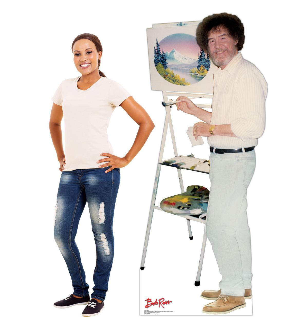 Life-size Bob Ross Talking Cardboard Standup 2