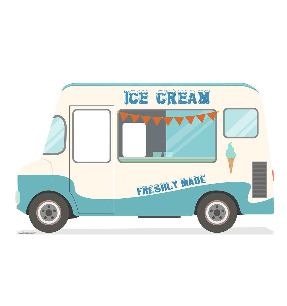 Life-size Ice Cream Truck Standin Cardboard Standup
