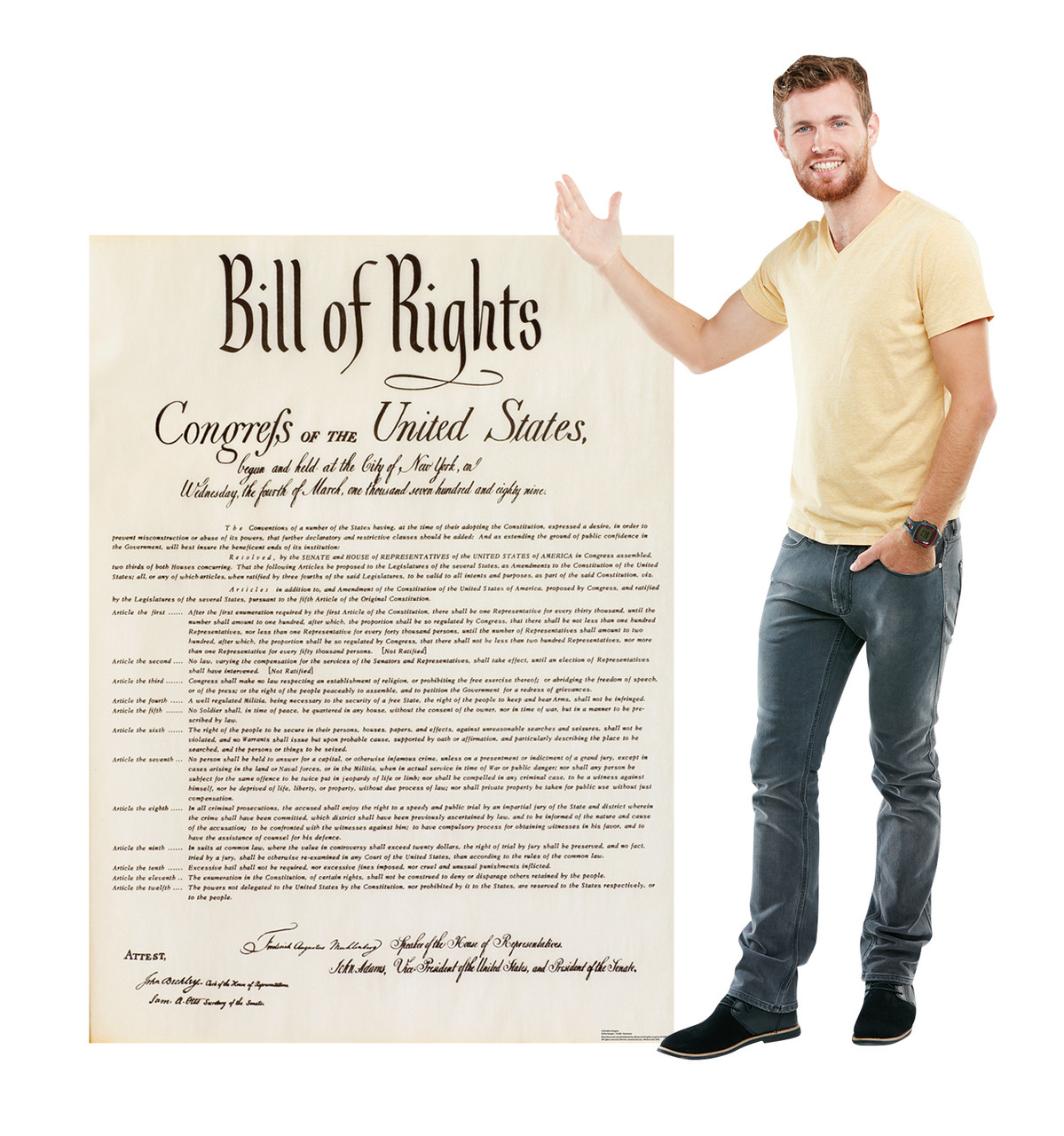 Life-size Bill of Rights Cardboard Cutout Cardboard Standup 3