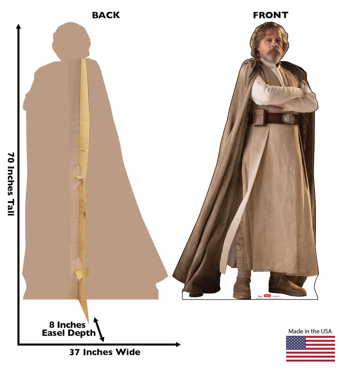 Luke Skywalker -Star Wars VIII The Last Jedi Cardboard Cutout 2530