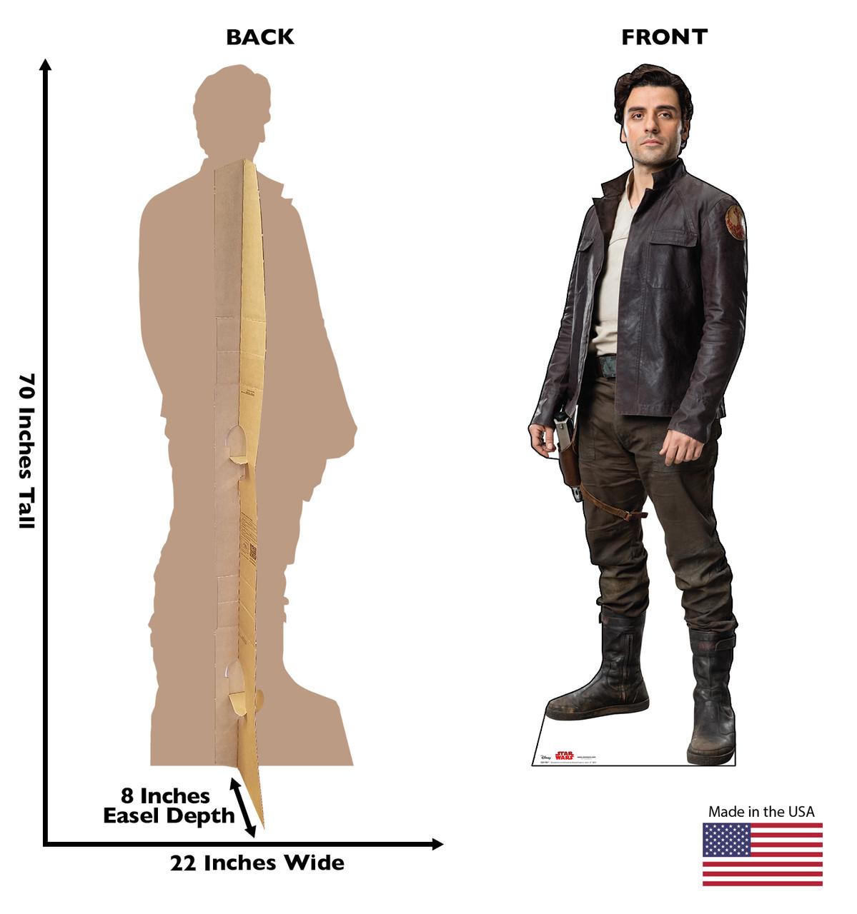 Poe -Star Wars VIII The Last Jedi Cardboard Cutout 2531