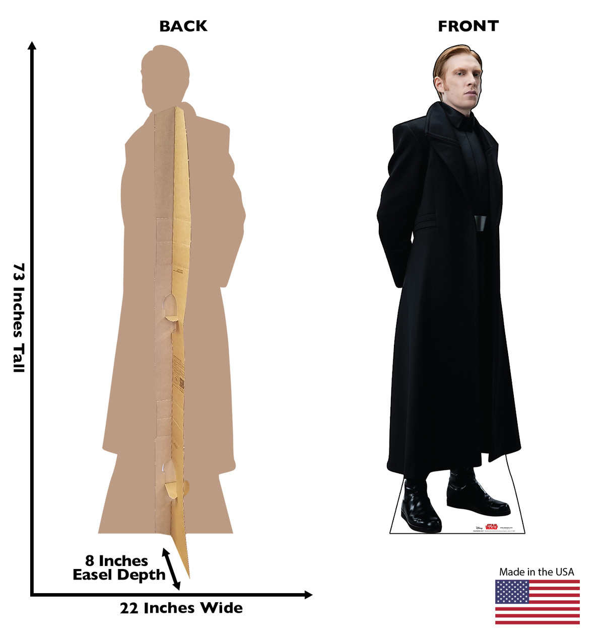 General Hux Star Wars The Last Jedi Life Size Cardboard Cutout