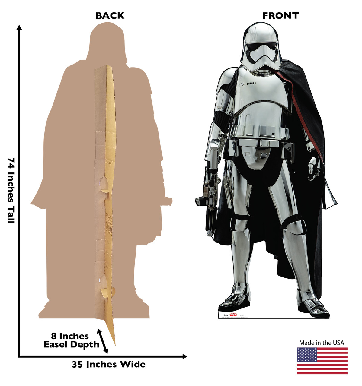 Captain Phasma -Star Wars VIII The Last Jedi Cardboard Cutout 2540