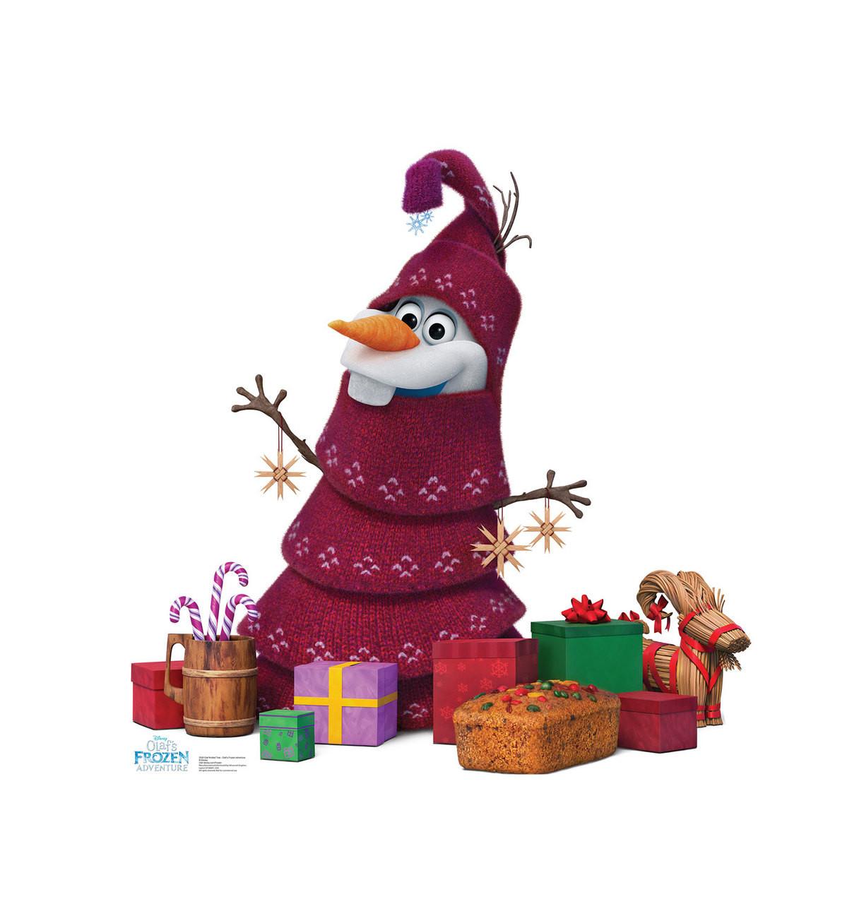 Olaf Knitted Tree (Olafs Frozen Adventure)   Cardboard Cutout 1