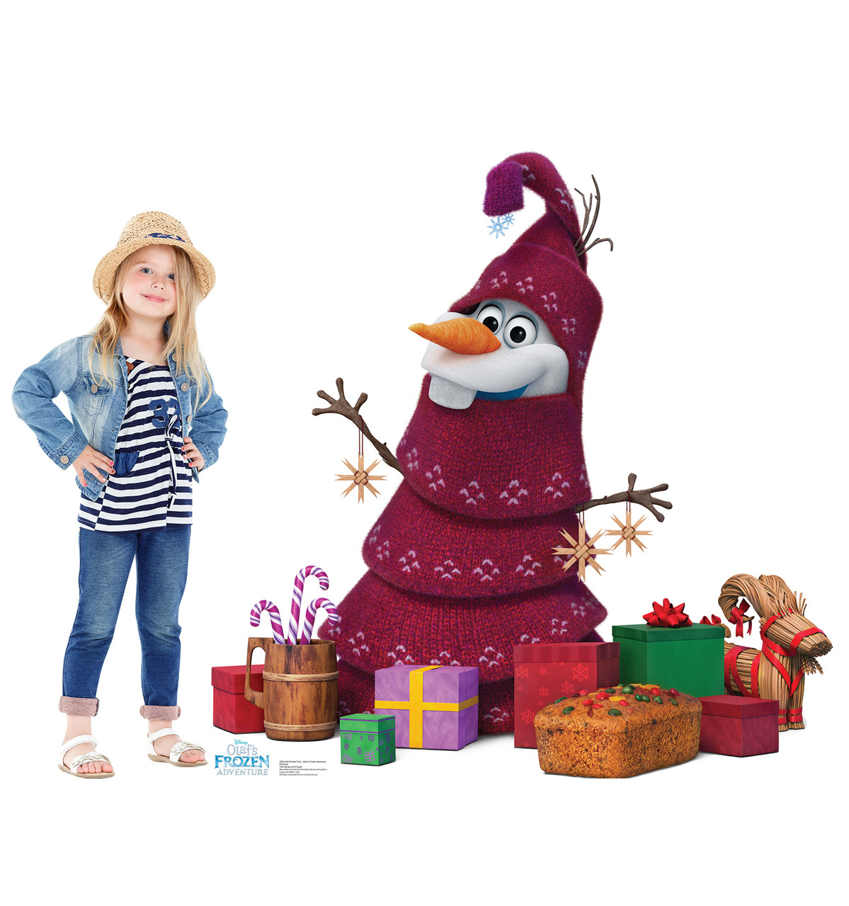 Olaf Knitted Tree (Olafs Frozen Adventure) | Cardboard Cutout 3