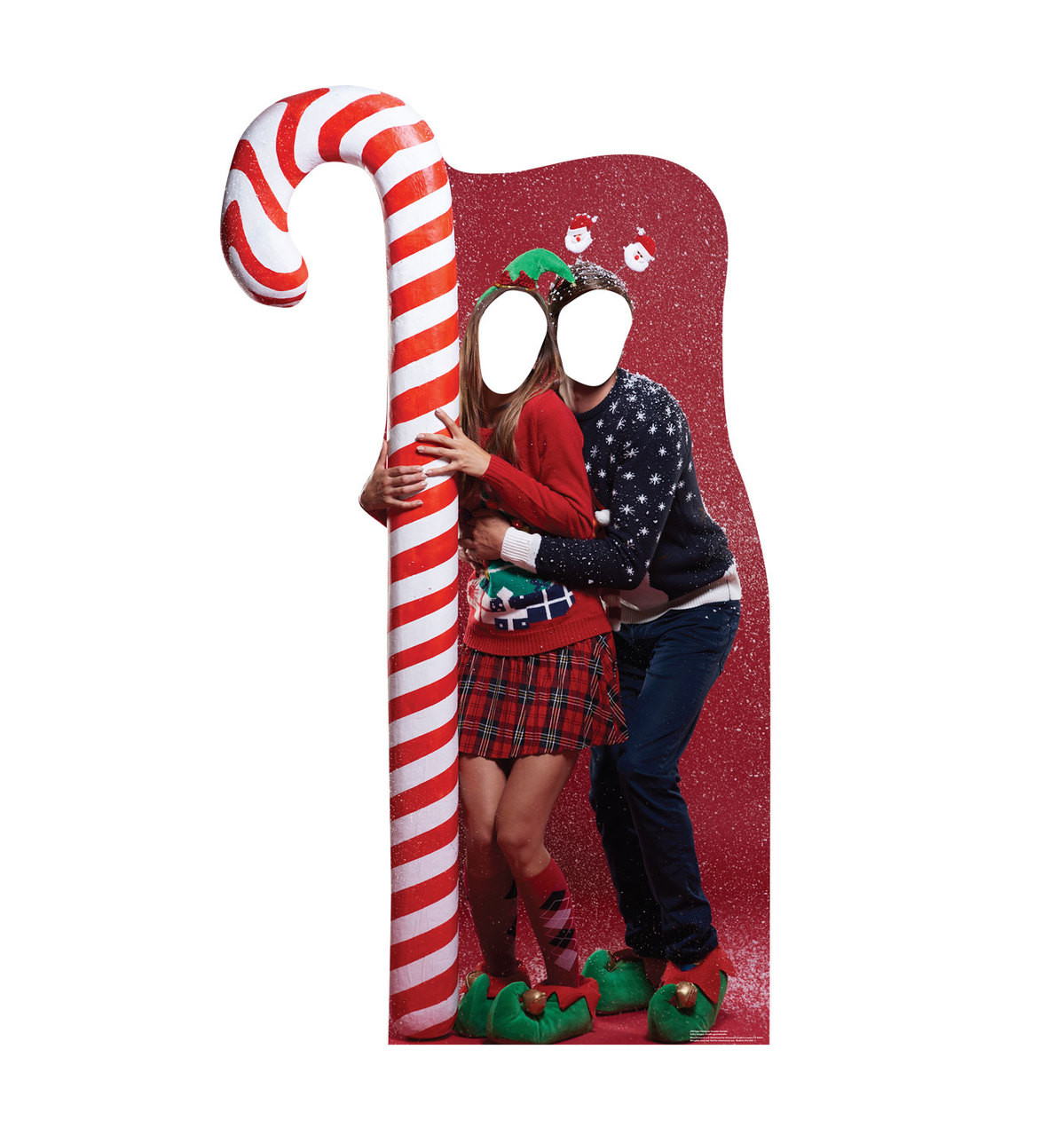 Ugly Christmas Sweater with CandUgly Christmas Sweater with Candy Cane Standin   Cardboard Cutouty Cane Stand-in-frontview