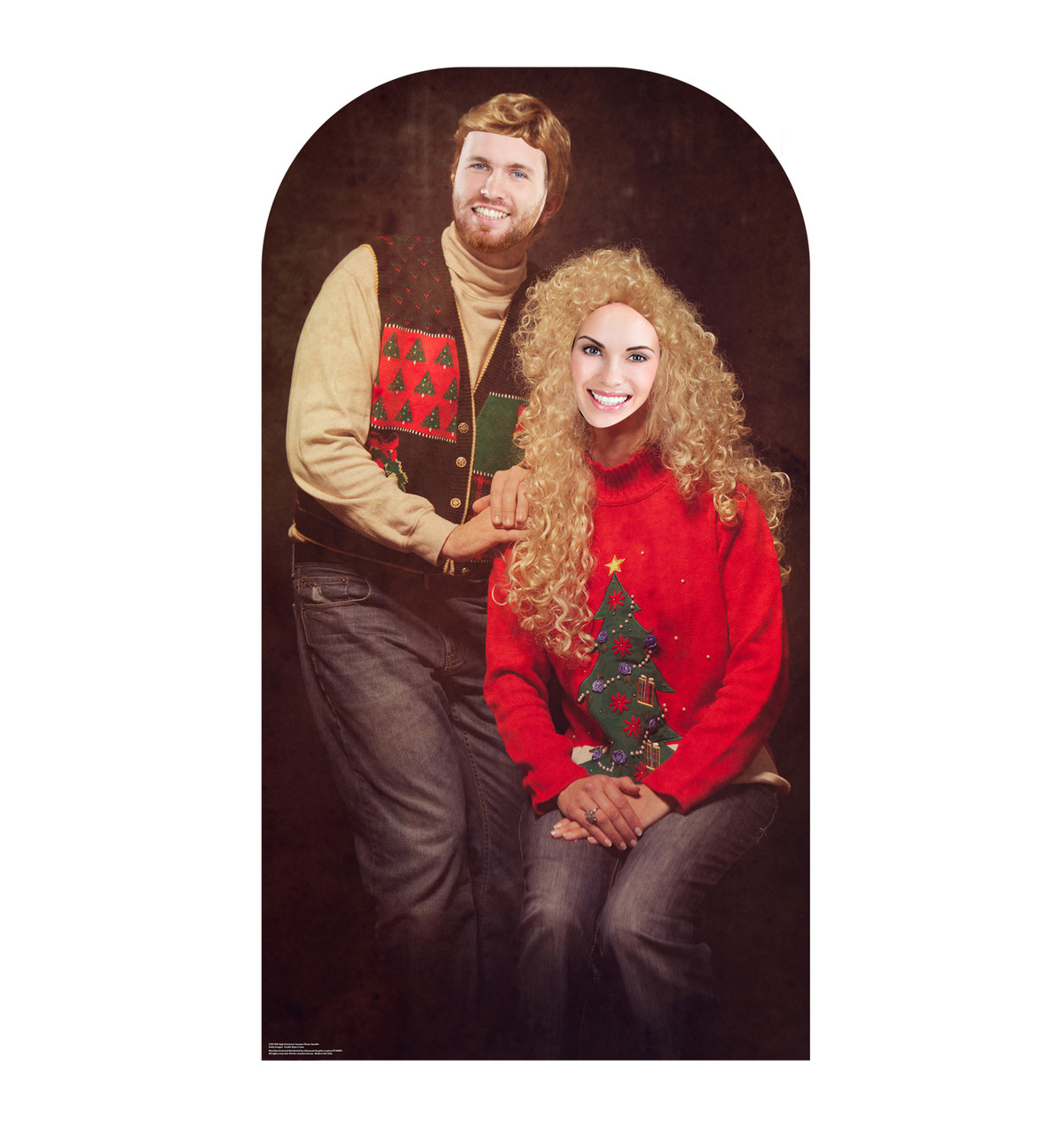 Ugly Christmas Sweater Portrait Stand-in Front View