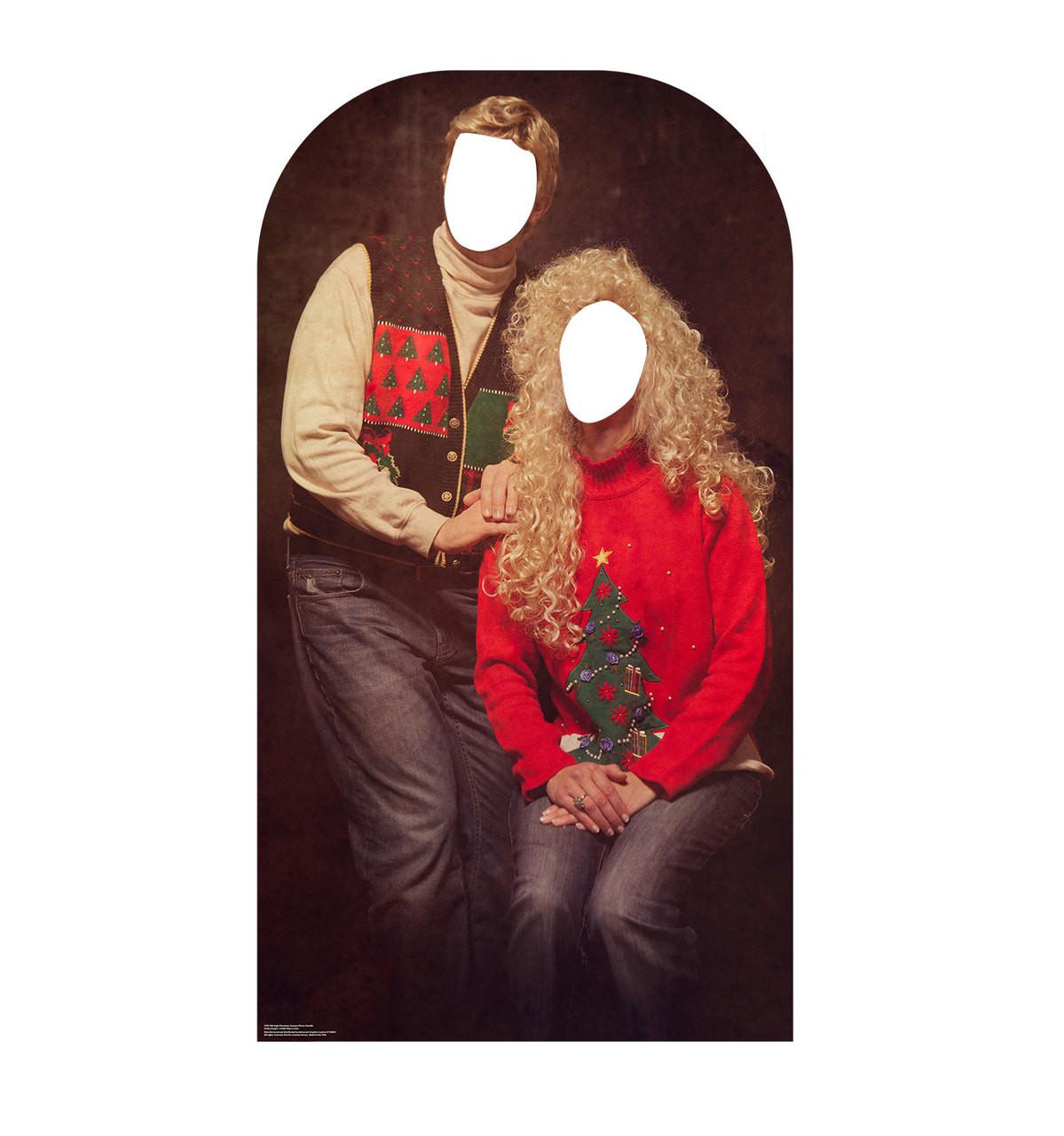 Ugly Christmas Sweater Portrait Ugly Christmas Sweater Portrait Stand-in | Cardboard CutoutStand-in