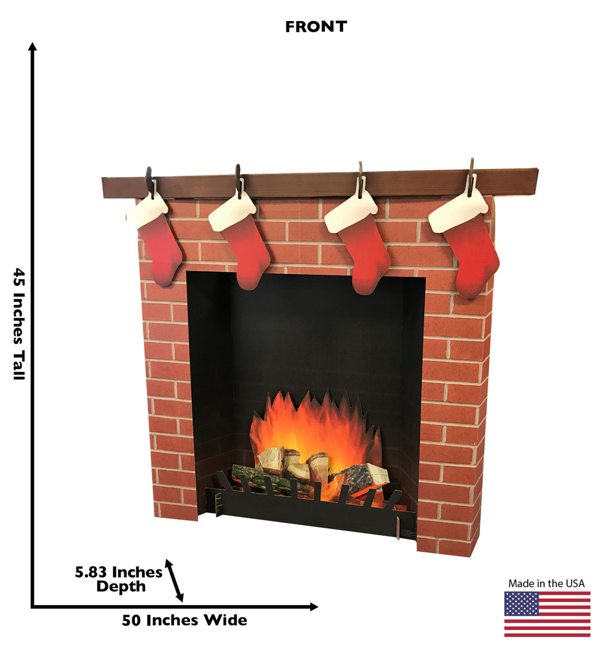 3D Brick Fireplace Cardboard Cutout 2569