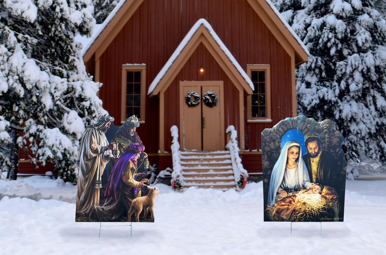 Christmas Nativity Outdoor Sign Set 2564_2566