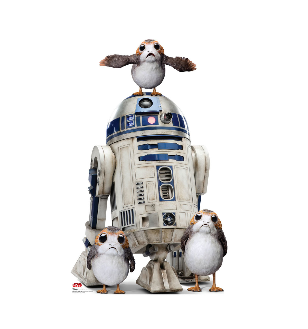 Porgs™ with R2-D2™ Life-Size Cardboard Cutout 1