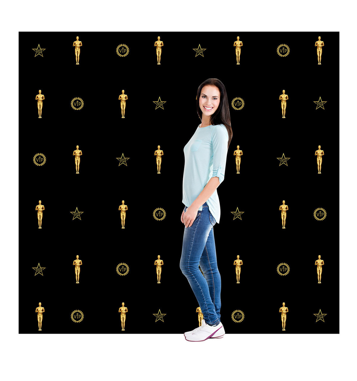 Red Carpet Step and Repeat Backdrop Double-Wide 2646