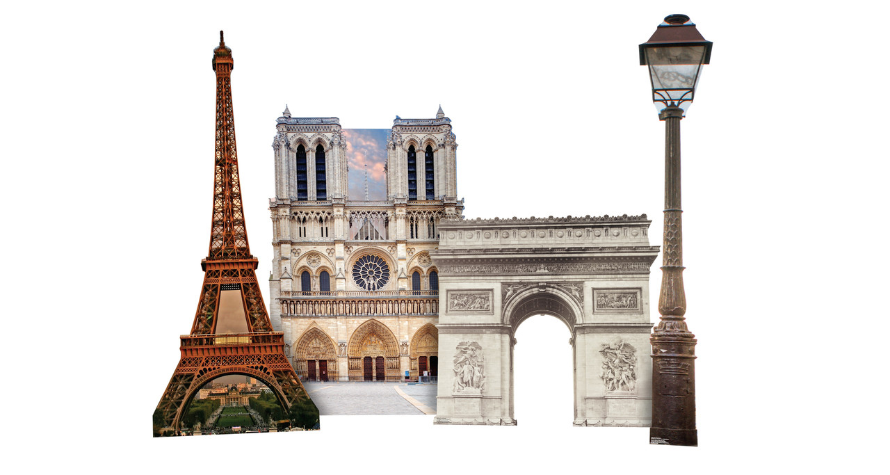 Paris Landmark Set 2 showing standees included.