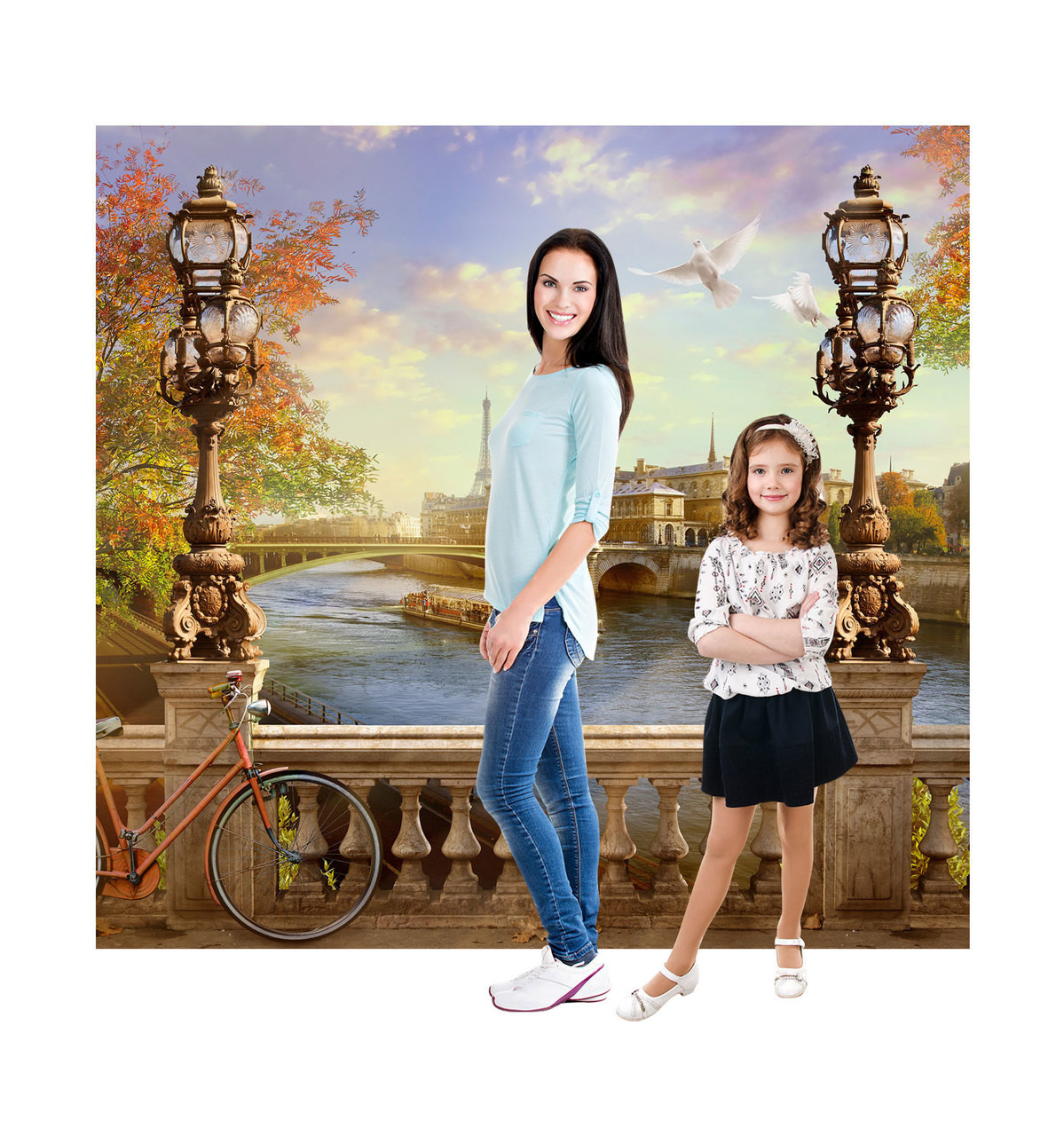 Paris Backdrop Standee with Models.