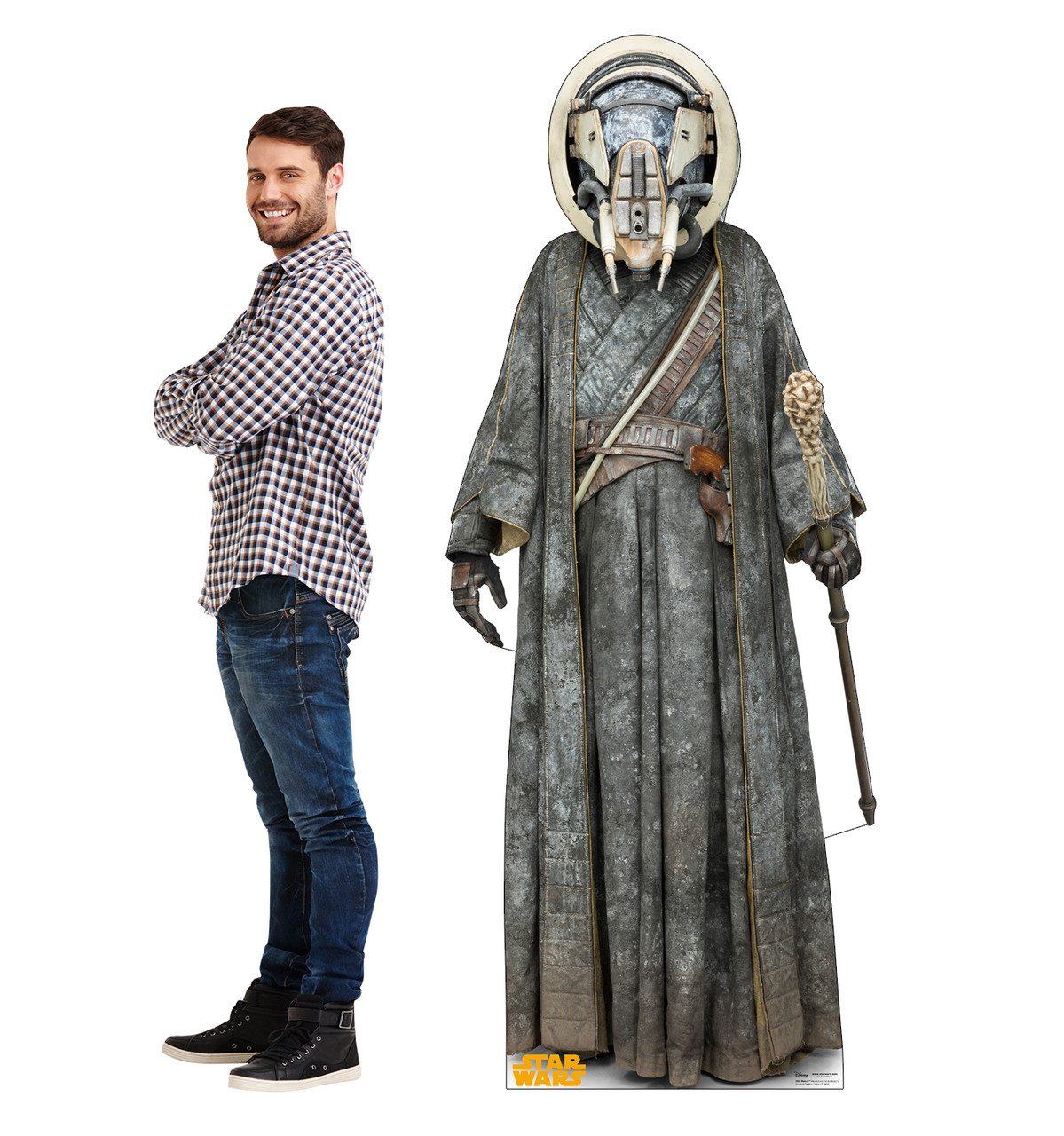 Moloch™ Life-size cardboard standee with model.