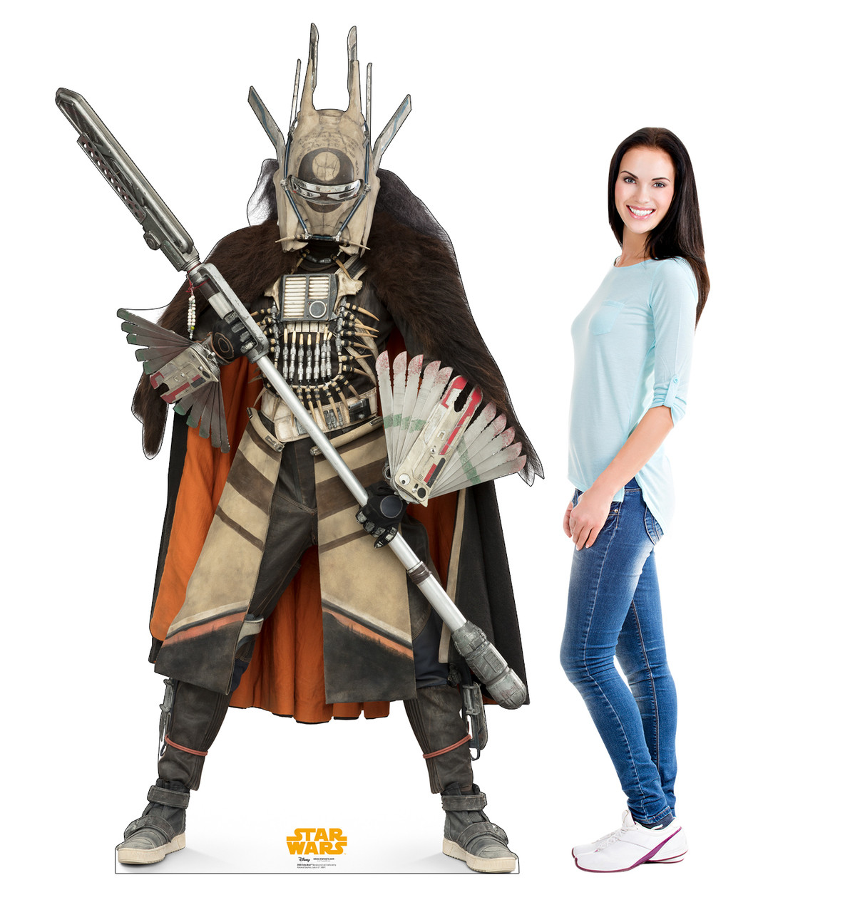 Enfys Nest™ Life-size cardboard standee with model