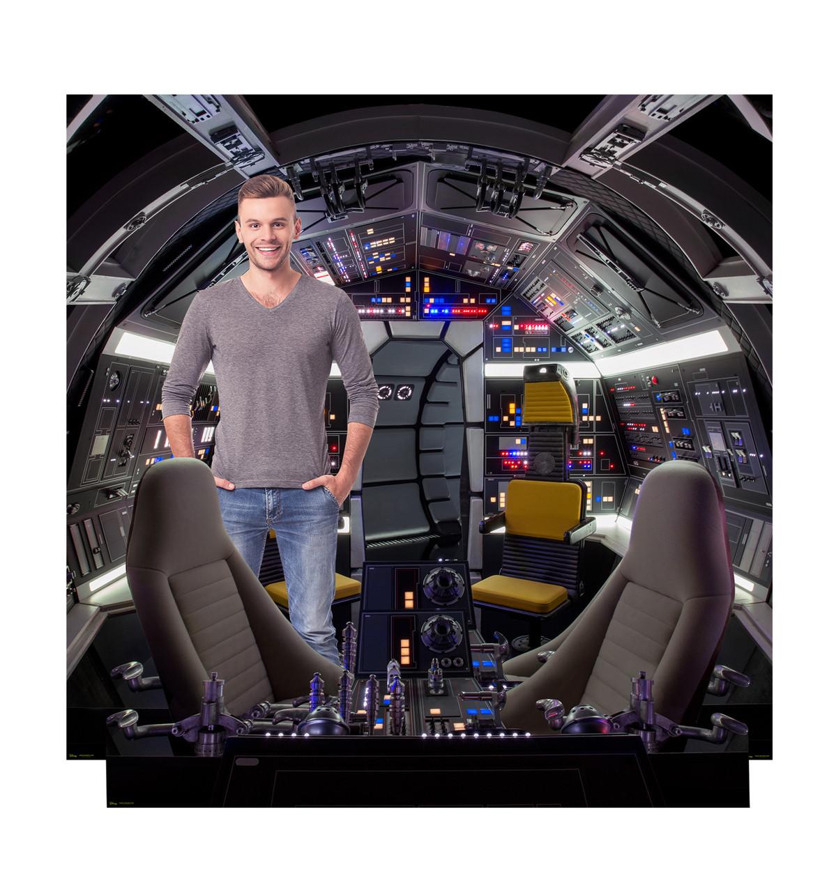 Cockpit of Millennium Falcon Cardboard Backdrop™  SKU 2664