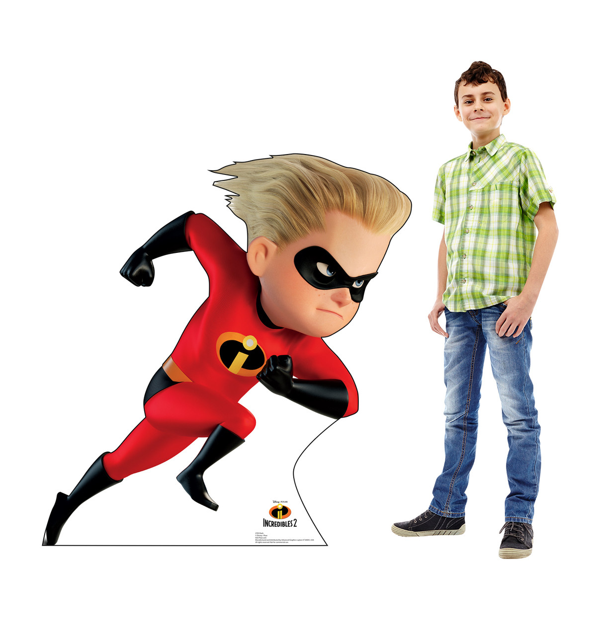 Dash Life-size cardboard standee with model.