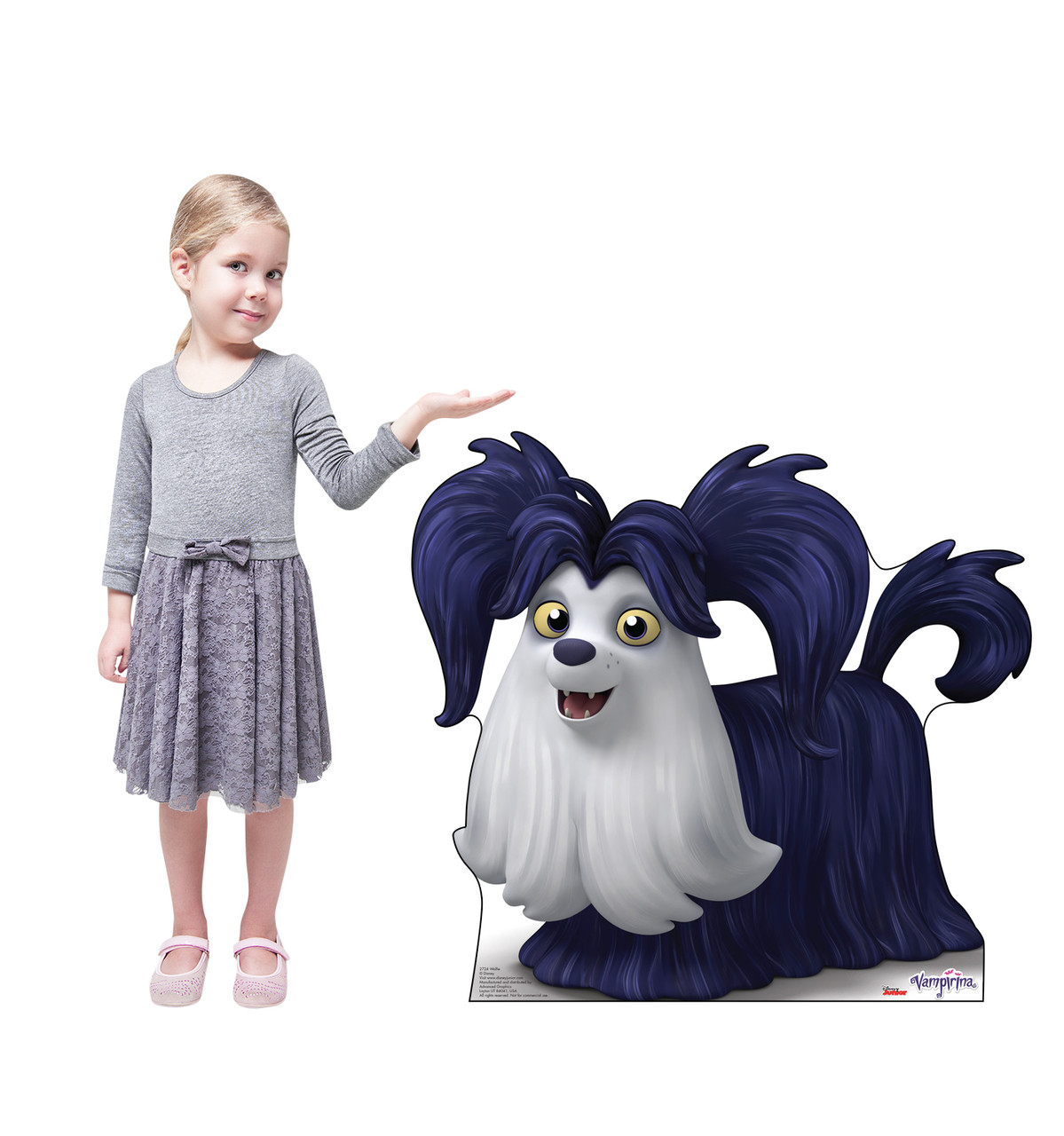 Wolfie Life-size cardboard standee with model