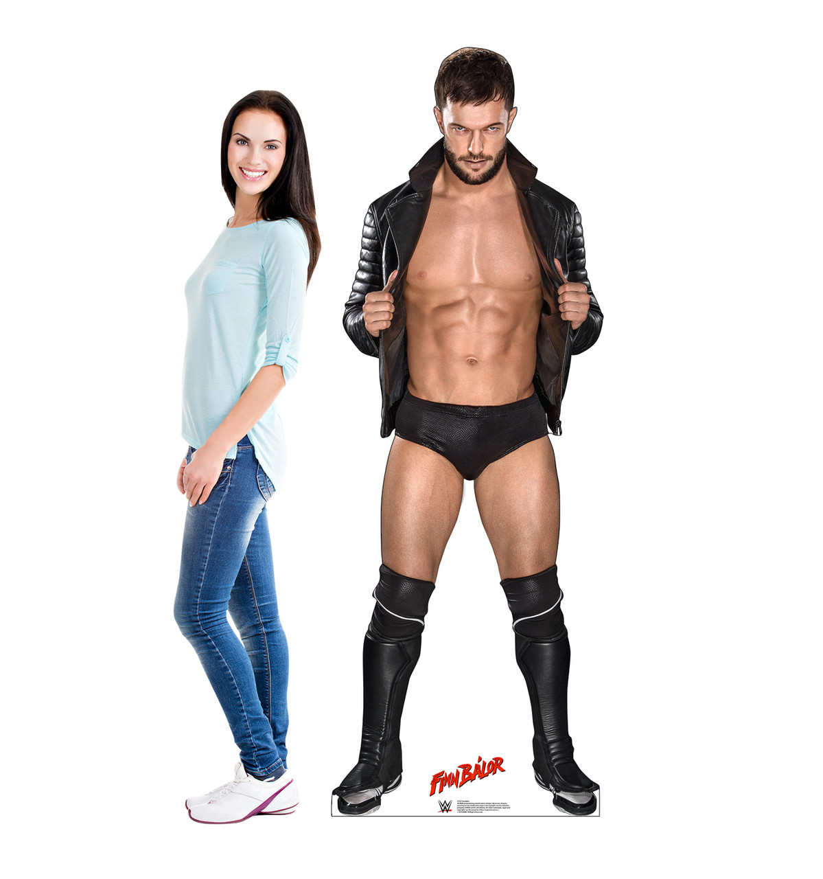 Finn Balor Life-size cardboard standee front with model