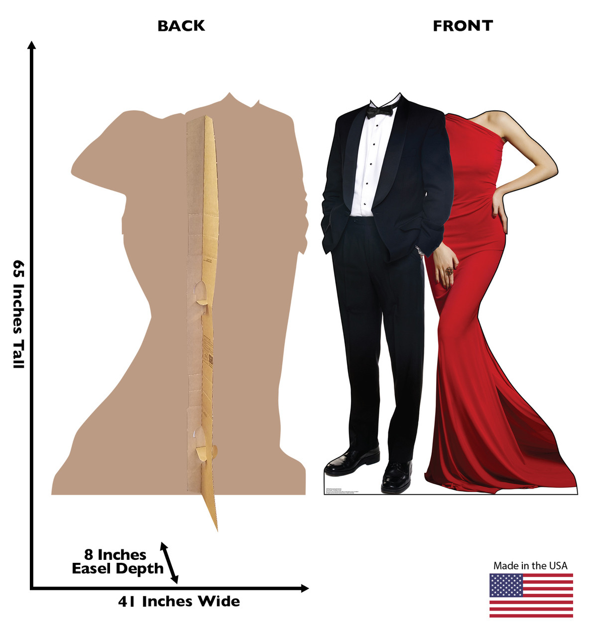 Red Carpet Couple Stand-In Cardboard Cutout  2744