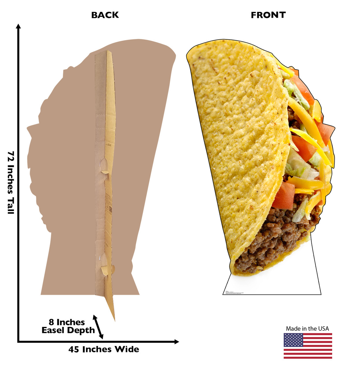 Taco Cardboard Cutout  2750
