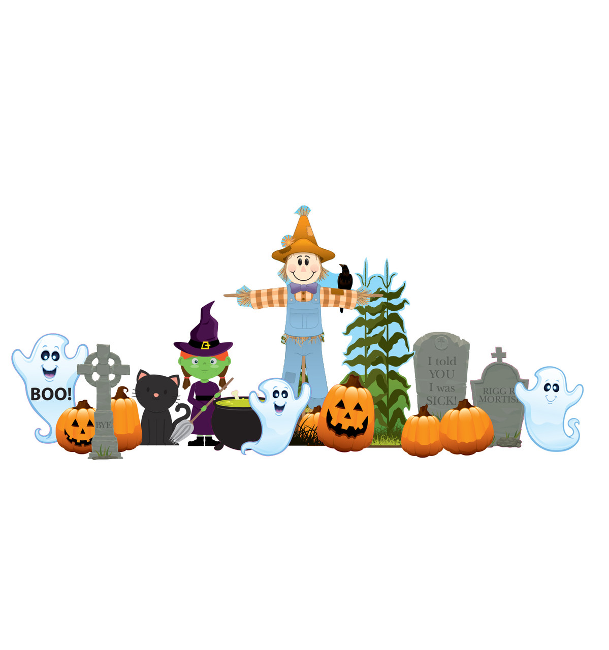 Friendly Halloween Theme Outdoor Decor
