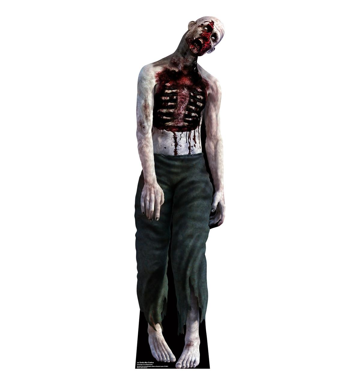 Zombie Man outdoor standee.