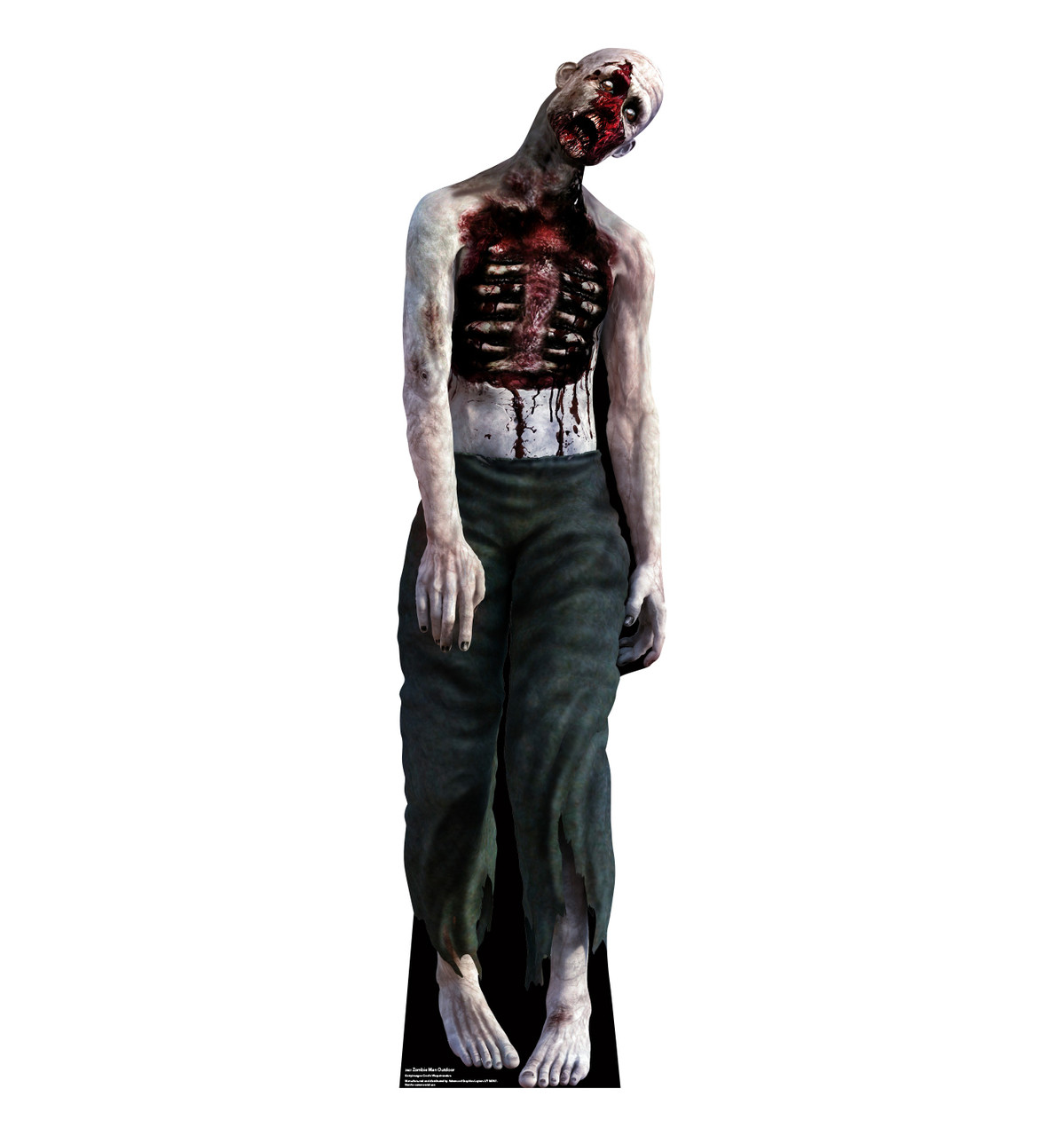 Zombie Man outdoor standee.