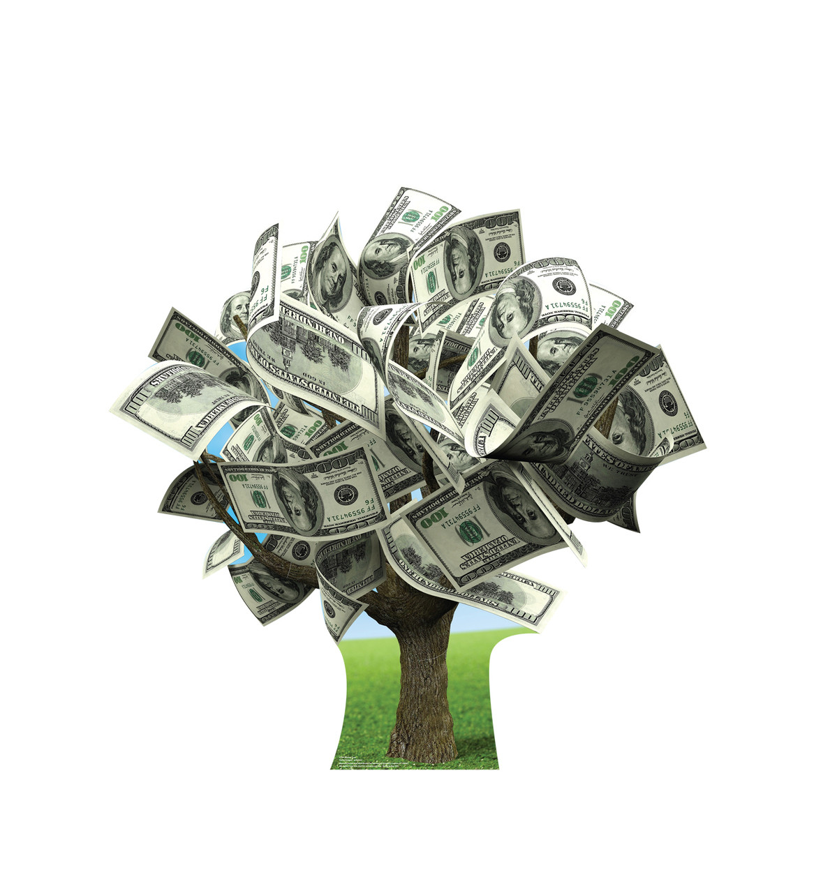 Life-size cardboard standee of a Money Tree.