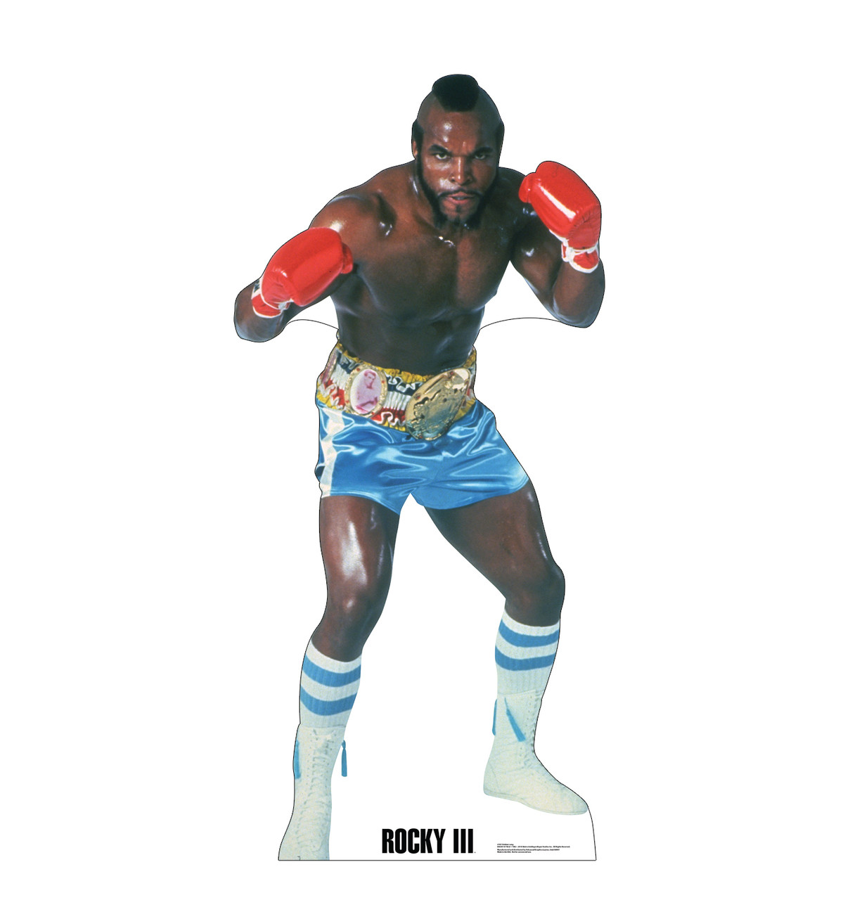 Life-size cardboard standee of Clubber Lang from Rocky III.