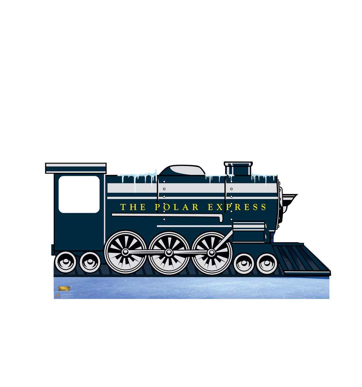 Life-size cardboard standee of the Polar Express Train Stand-in from The Polar Express.