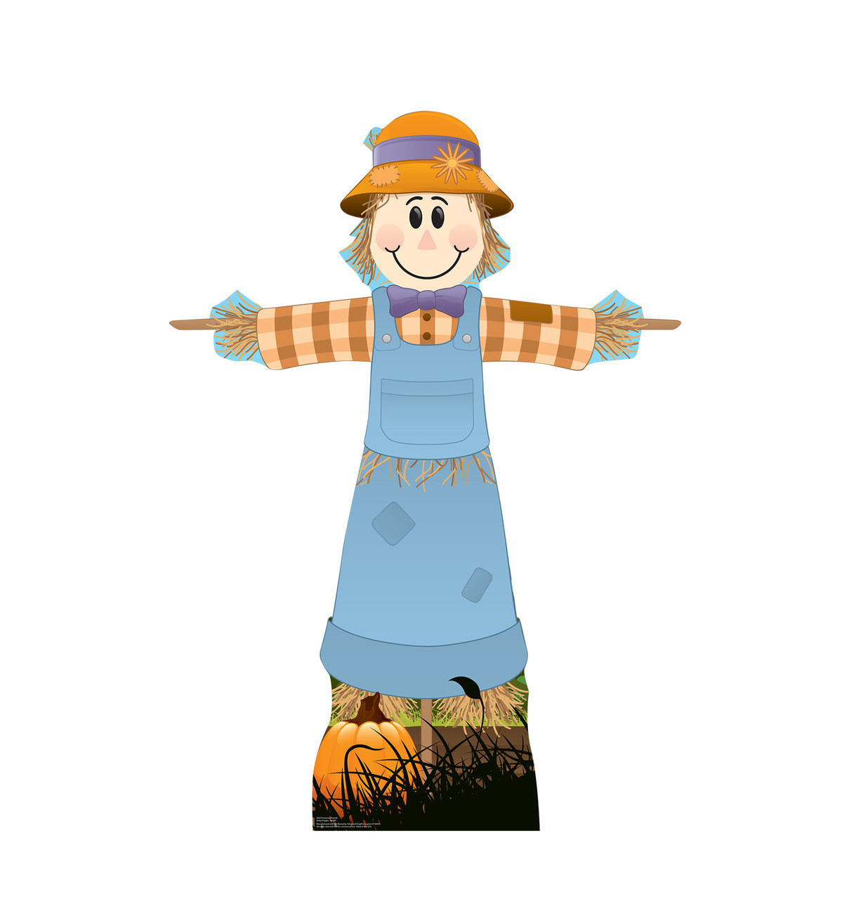 Life-size cardboard standee of Scarecrow Female.