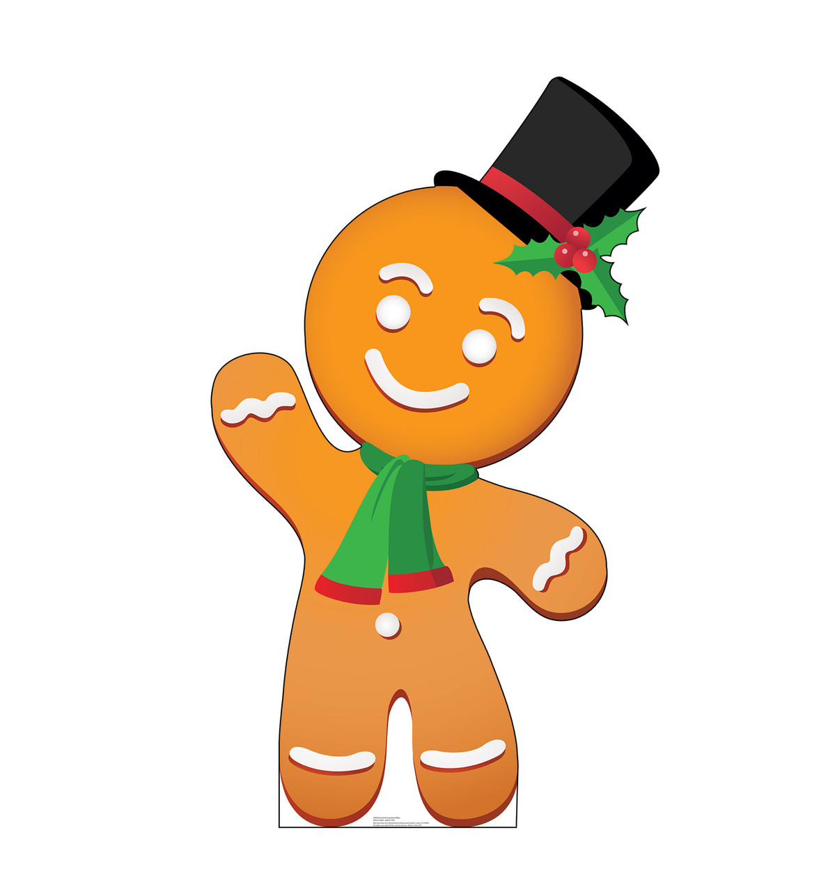 Life-size cardboard standee of Illustrated Gingerbread Man.