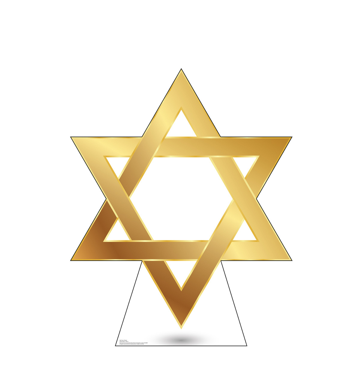 Life-size cardboard standee of Star of David.
