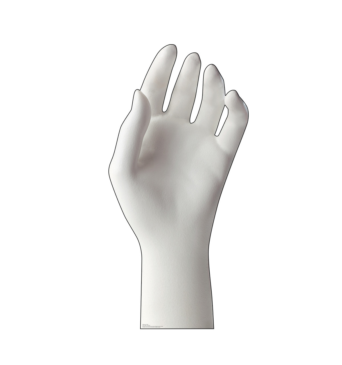 Life-size cardboard standee of a Ceramic Hand.