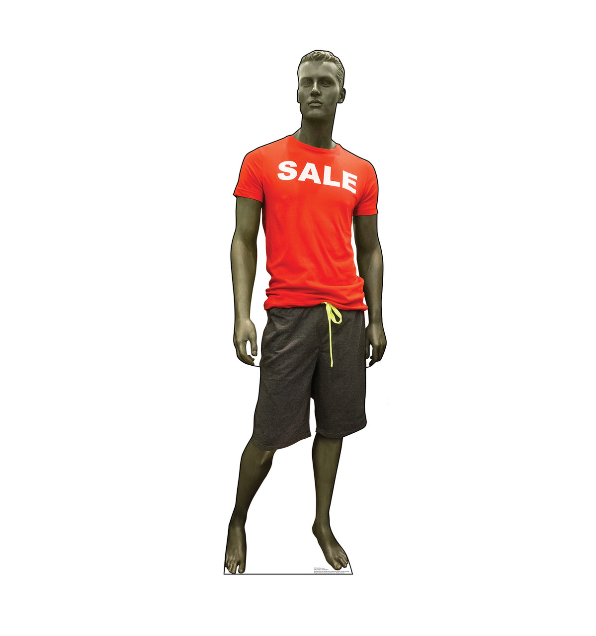 Life-size cardboard standee of a Sale Mannequin.
