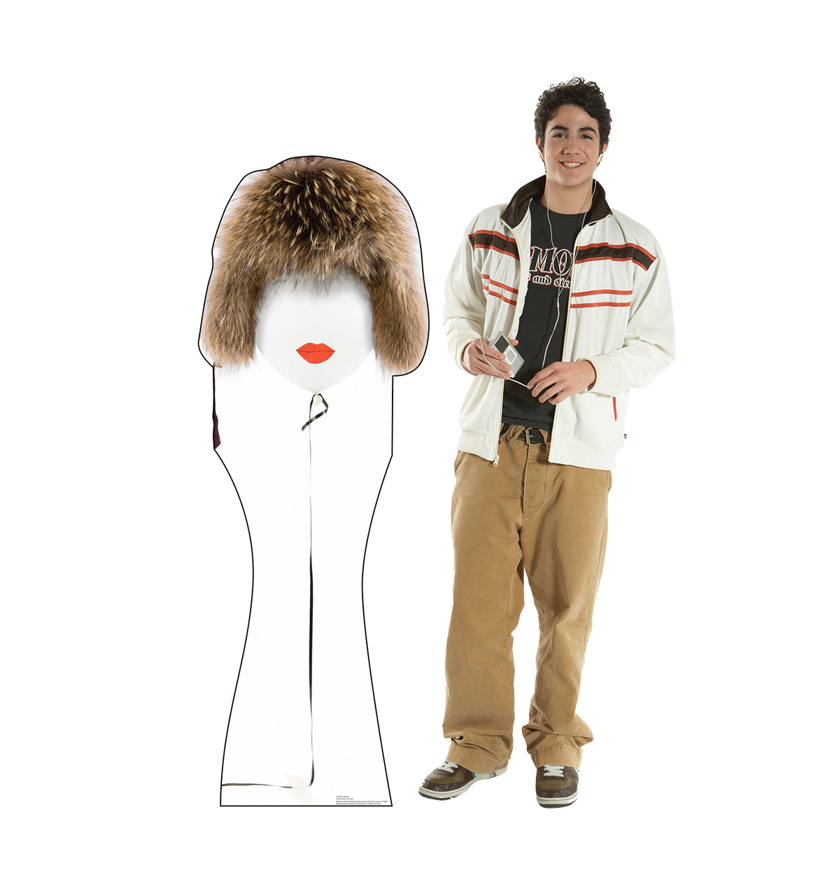 Life-size cardboard standee of a  Mrs Balloon with model.