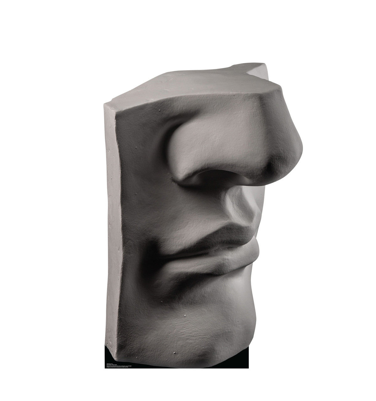 Life-size cardboard standee of a Plaster Face.