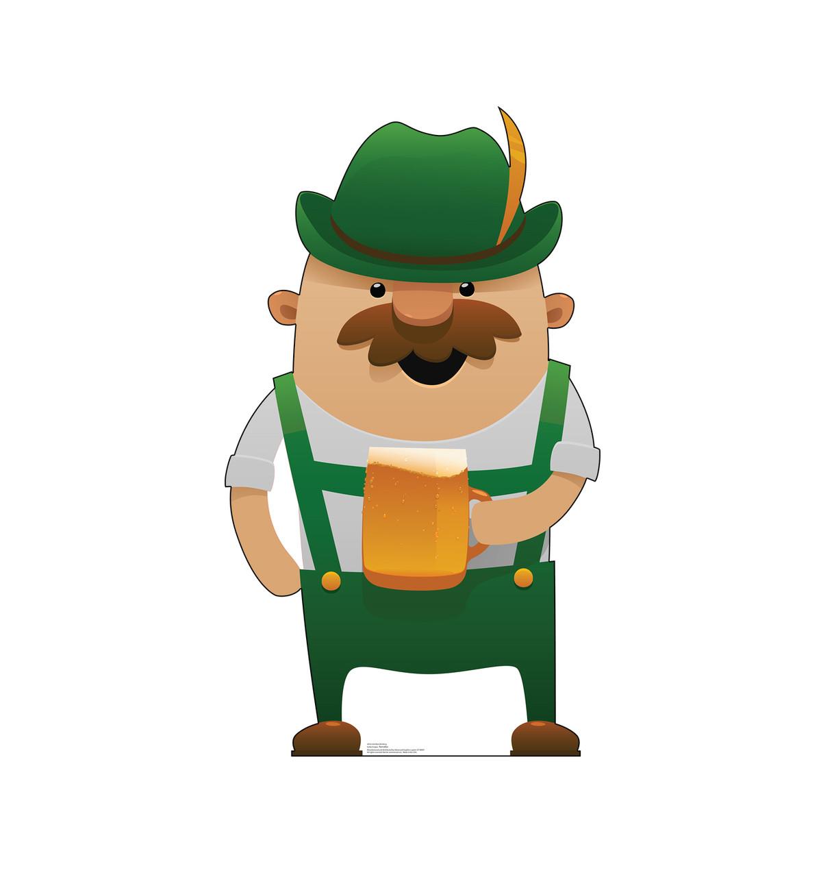 Life-size cardboard standee of a Irish Man Drinking - Animated.